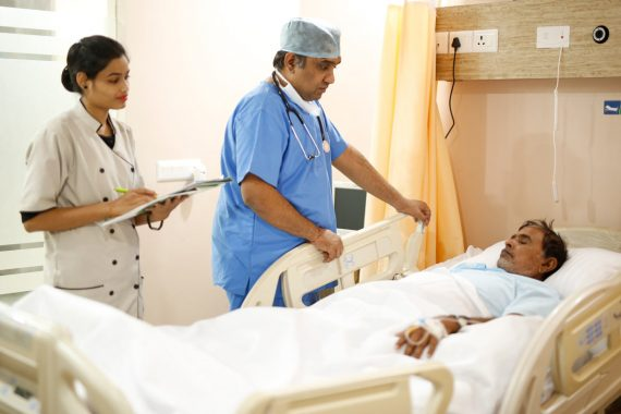 Regen visionary Dr Rishabh Sethi, visiting patients